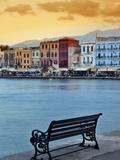 Chania at Dusk, Crete, Greece Fotografisk tryk af Adam Jones