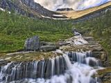 Cascading Stream, Glacier National Park, Montana Photographic Print by Adam Jones