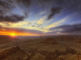 Sunset, South Rim of the Grand Canyon, Grand Canyon National Park, Arizona Photographic Print by Adam Jones