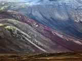 Pattern on Volcanic Mountain, Iceland Photographic Print by Adam Jones