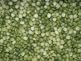 Split Green Peas (Pisum Sativum) Photographic Print by Ken Lucas