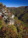 Early Autumn View of Linville Gorge Photographic Print by Adam Jones