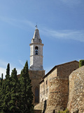 Church Steeple and City Wall, Pienza, Italy, Tuscany Photographic Print by Adam Jones