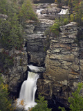 Linville Falls in Linville Gorge, Which Is Often Called the Grand Canyon of North Carolina Photographic Print by Adam Jones