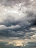 Storm Cloud over Island in Mediterranean, Santorini, Greece Photographic Print by Adam Jones