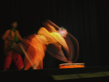 Long Exposure, Slow Motion Effect on a Tradiitional Dancer, New Delhi, India Photographic Print by Adam Jones