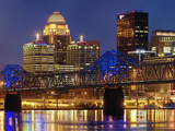 Louisville Skyline at Dusk Photographic Print by Adam Jones