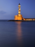 Lighthouse at Chania, Crete, Greece Photographic Print by Adam Jones