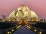 Lotus Temple, Delhi, India Photographic Print by Adam Jones