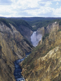 Lower Yellowstone Falls and Grand Canyon of the Yellowstone, Yellowstone National Park, Wyoming Photographic Print by Adam Jones