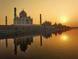 Taj Mahal at Sunset, Agra, India Photographic Print by Adam Jones