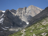 East Face of Longs Peak, a Glacial Headwall in the Rocky Mountains, Colorado, USA Fotografie-Druck von Marli Miller