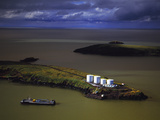 The Summer Fuel Barge Making its Delivery at St. Michaels in Western Alaska Photographic Print by Paul Andrew Lawrence