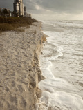 Beach Erosion During a Storm, Gulf Coast, Florida, USA Photographic Print by Marli Miller