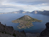 Crater Lake Is Caldera That Formed About 7700 Years Ago Photographic Print by Marli Miller