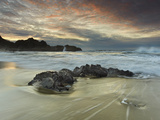 Waves Crashing onto the Rocky and Sandy Mcclure's Beach Photographic Print by Patrick Smith