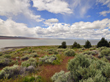 Lake Abert, a Remnant of Pleistocene Lake Chewaucan Photographic Print by Robert & Jean Pollock
