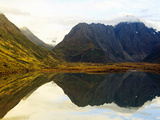 Reflections in Eklutna Lake in the Chugach Mountains of Alaska Photographic Print by Paul Andrew Lawrence