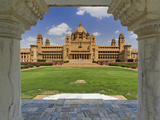 Rear View of Umaid Bhawan Palace Hotel, Jodjpur, India Photographic Print by Adam Jones