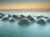 These Sandstone Concretions at Bowling Ball Beach Near Point Arena Photographic Print by Patrick Smith