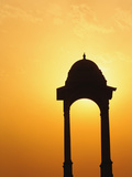 Tower Near the India Gate Silhouetted at Sunset, New Delhi, India Photographic Print by Adam Jones