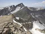 Glacial Arete That Separates Two Glacial Cirques in the Rocky Mountains, Colorado, USA Impressão fotográfica por Marli Miller