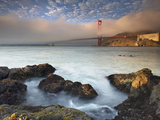A Fog Bank Enveloping the Golden Gate Bridge, San Francisco, California, USA Photographic Print by Patrick Smith