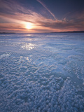 Winter Sunset over Lake of Two Mountains, Montreal, Quebec, Canada Photographic Print by Robert Servranckx