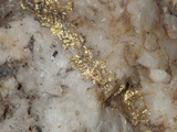 Gold Vein in Quartz, Sample is About 4cm Across Photographic Print by Marli Miller