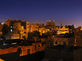 San'A by Night, Yemen Photographic Print by Fabio Pupin