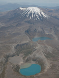 Ngauruhoe Cone of Tongariro Volcano and Tama Lakes, New Zealand Photographic Print by Richard Roscoe