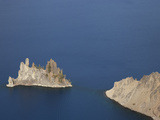 The Phantom Ship Andesite Outcrop Is the Oldest known Rock in the Crater Lake Caldera, Oregon, USA Photographic Print by Marli Miller