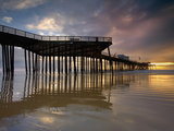 Sunset Behind the Pier at Pismo Beach, Central California, USA Photographic Print by Patrick Smith