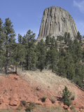 Devils Tower National Monument, a Laccolith of Phonolite Porphyry Columns, Wyoming, USA Photographic Print by Richard Roscoe