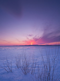 Sunset over Lake of Two Mountains, Montreal, Quebec, Canada Photographic Print by Robert Servranckx