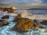 Crashing Waves Eroding the Rocky Coast Near Monterey, California, USA Photographic Print by Patrick Smith