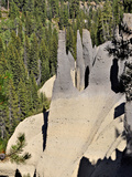 Fossil Fumaroles in the Pinnacles Area of Crater Lake National Park Photographic Print by Robert & Jean Pollock