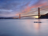 Sunset Behind the Golden Gate Bridge, San Francisco, California, USA Photographic Print by Patrick Smith