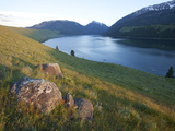 Wallowa Lake Hemmed in by a Glacial Moraine and with Glacially Transported Granitic Boulders Photographic Print by Marli Miller