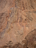 Detachment Fault, a Low-Angle Normal Fault, Mojave Desert with Steeply Tilted Rock Photographic Print by Marli Miller