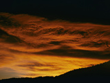 Sunrise or Sunset Clouds over the Front Range of Colorado, USA Photographic Print by Robert & Jean Pollock