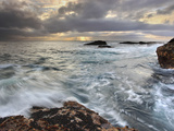 Winter Storm Waves Battering the Rocky Coast Near Monterey, Central California, USA Photographic Print by Patrick Smith