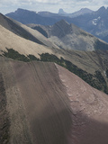 Dipping Proterozoic Strata and Peaks of the Us-Canada Border Photographic Print by Marli Miller
