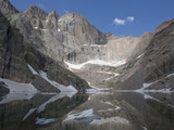 Cirque, Tarn, and Headwall, Chasm Lake and Longs Peak, Rocky Mountains, Colorado, USA Impressão fotográfica por Marli Miller