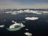 Icebergs Near Paulet Island, Antarctica, Note The Large Underwater Mass of The Iceberg Photographic Print by Joe McDonald