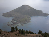 Wizard Island, a Post-Caldera Cinder Cone, Rises Above Crater Lake, Oregon, USA Photographic Print by Marli Miller