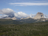 Chief Mountain, a Klippe of the Lewis Thrust Fault, at the Us-Canada Border Photographic Print by Marli Miller