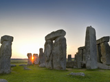 Stonehenge at Sunrise Near the Time of the Summer Solstice, Salisbury Plain, England Photographic Print by David Nunuk