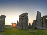 Stonehenge at Sunrise Near the Time of the Summer Solstice, Salisbury Plain, England Photographic Print by David Nunuk