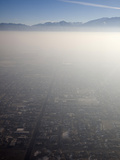 Salt Lake City Is Prone to Atmospheric Inversions and Associated Smog Because of the Dry Air Photographic Print by Marli Miller